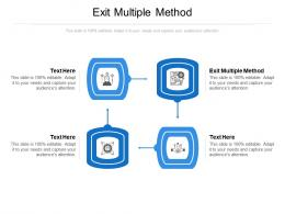 Exit Multiple Method Ppt Powerpoint Presentation Infographics Slide Portrait Cpb