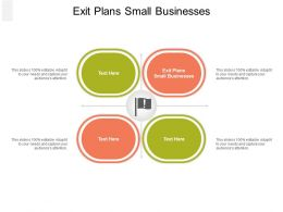 Exit Plans Small Businesses Ppt Powerpoint Presentation Ideas Layout Ideas Cpb