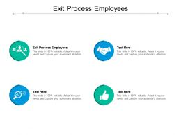 Exit Process Employees Ppt Powerpoint Presentation Layouts Graphics Cpb