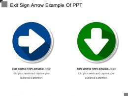 Exit Sign Arrow Example Of Ppt