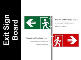 Exit Sign Board Sample Of Ppt