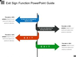 Exit Sign Function Powerpoint Guide