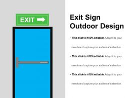 Exit Sign Outdoor Design Powerpoint Ideas