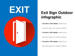 Exit Sign Outdoor Infographic Ppt Icon