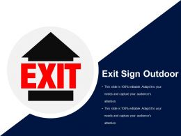 Exit Sign Outdoor Ppt Background