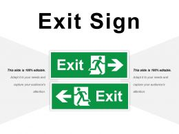 Exit Sign Ppt Infographics