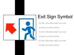 Exit Sign Symbol Ppt Diagrams