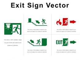 Exit Sign Vector Ppt Examples