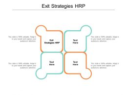Exit Strategies HRP Ppt Powerpoint Presentation Slides Styles Cpb