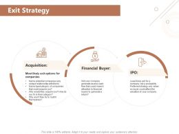 Exit Strategy Acquisition Ppt Powerpoint Presentation Summary Show