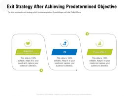 Exit Strategy After Achieving Predetermined Objective Exit Ppt Powerpoint Presentation File Guide