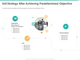 Exit Strategy After Achieving Predetermined Objective Financial Buyer Ppt Shows