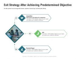 Exit Strategy After Achieving Predetermined Objective M3354 Ppt Powerpoint Presentation Show