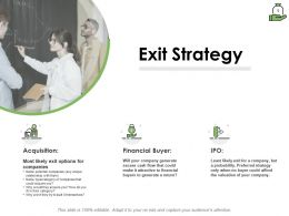 Exit Strategy Companies Ppt Powerpoint Presentation Summary Examples