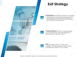 Exit Strategy Financial Buyer Ppt Powerpoint Presentation Background Images