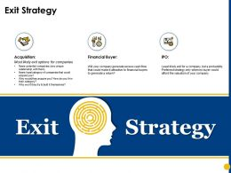 Exit Strategy Financial Buyer Ppt Powerpoint Presentation Outline Templates