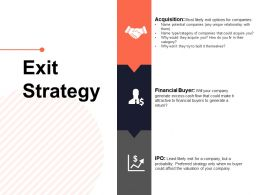 Exit Strategy Financial Buyer Ppt Powerpoint Presentation Summary Icons