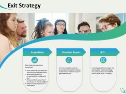 Exit Strategy Financial Buyers Generate Ppt Powerpoint Presentation Background Designs