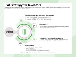 Exit Strategy For Investors Redemption Feature Ppt Powerpoint Presentation Icon Slides
