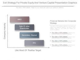 Exit Strategy For Private Equity And Venture Capital Presentation Graphics