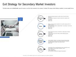 Exit Strategy For Secondary Market Investors Pitch Deck To Raise Funding From Spot Market Ppt Summary
