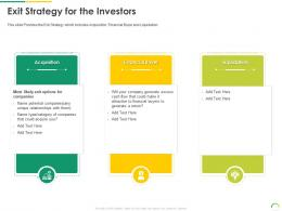 Exit Strategy For The Investors Post IPO Equity Investment Pitch Ppt Introduction
