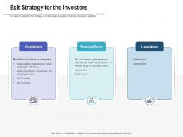 Exit Strategy For The Investors Raise Funding Post IPO Investment Ppt Download