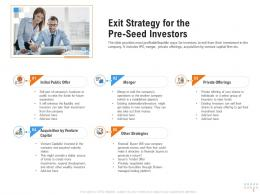 Exit Strategy For The Preseed Investors Raise Funding From Pre Seed Round Ppt Images