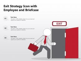 Exit Strategy Icon With Employee And Briefcase