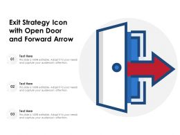 Exit Strategy Icon With Open Door And Forward Arrow