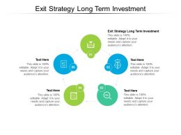 Exit Strategy Long Term Investment Ppt Powerpoint Presentation Portfolio Brochure Cpb