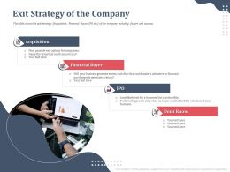 Exit Strategy Of The Company Financial Buyer Ppt Powerpoint Inspiration