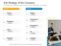 Exit Strategy Of The Company Raise Funding Bridge Financing Investment Ppt Sample