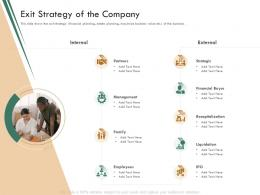 Exit Strategy Of The Company Raise Funding Bridge Funding Ppt Structure