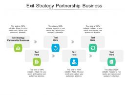 Exit Strategy Partnership Business Ppt Powerpoint Presentation Styles Backgrounds Cpb
