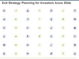 Exit Strategy Planning For Investors Icons Slide Ppt Powerpoint Presentation Background