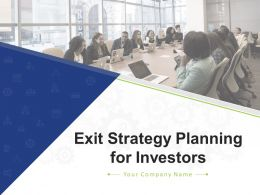 Exit Strategy Planning For Investors Powerpoint Presentation Slides