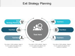 Exit Strategy Planning Ppt Powerpoint Presentation File Graphics Download Cpb