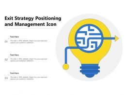 Exit Strategy Positioning And Management Icon