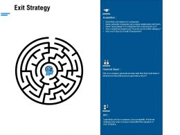 Exit Strategy Ppt Powerpoint Presentation Gallery Graphic Images