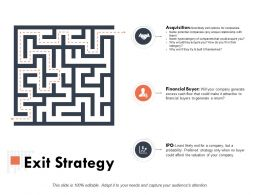 Exit Strategy Ppt Powerpoint Presentation Outline Graphics