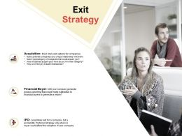 Exit Strategy Ppt Powerpoint Presentation Slides Smartart