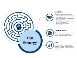 Exit Strategy Ppt Slide Templates