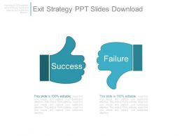 Exit Strategy Ppt Slides Download