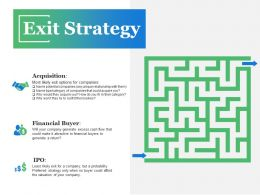 Exit Strategy Ppt Visual Aids