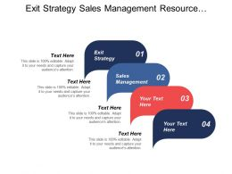 Exit Strategy Sales Management Resource Outsourcing Organizational Chart Cpb