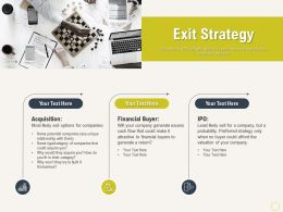 Exit Strategy Unique Ppt Powerpoint Presentation Gallery Layout