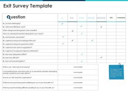 Exit Survey Template Knowledge Ppt Powerpoint Presentation Pictures Skills