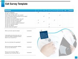 Exit Survey Template Suggestions Skills Ppt Powerpoint Presentation Inspiration