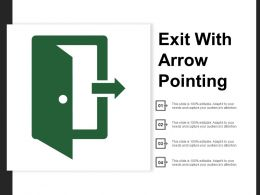 Exit With Arrow Pointing